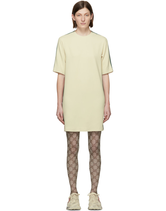 photo Off-White Cady Short Dress by Gucci - Image 1