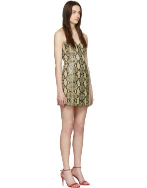 photo Beige Python Mini Dress by Gucci - Image 2