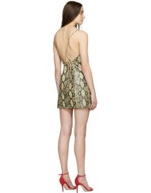photo Beige Python Mini Dress by Gucci - Image 3