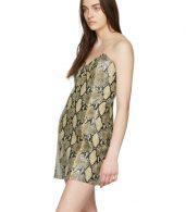 photo Beige Python Mini Dress by Gucci - Image 4