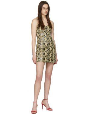 photo Beige Python Mini Dress by Gucci - Image 5
