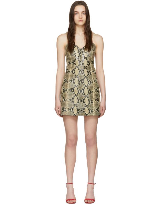 photo Beige Python Mini Dress by Gucci - Image 1