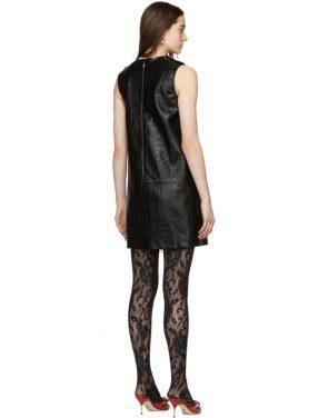 photo Black Croc Short Dress by Gucci - Image 3
