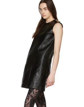 photo Black Croc Short Dress by Gucci - Image 4