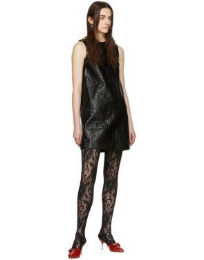 photo Black Croc Short Dress by Gucci - Image 5