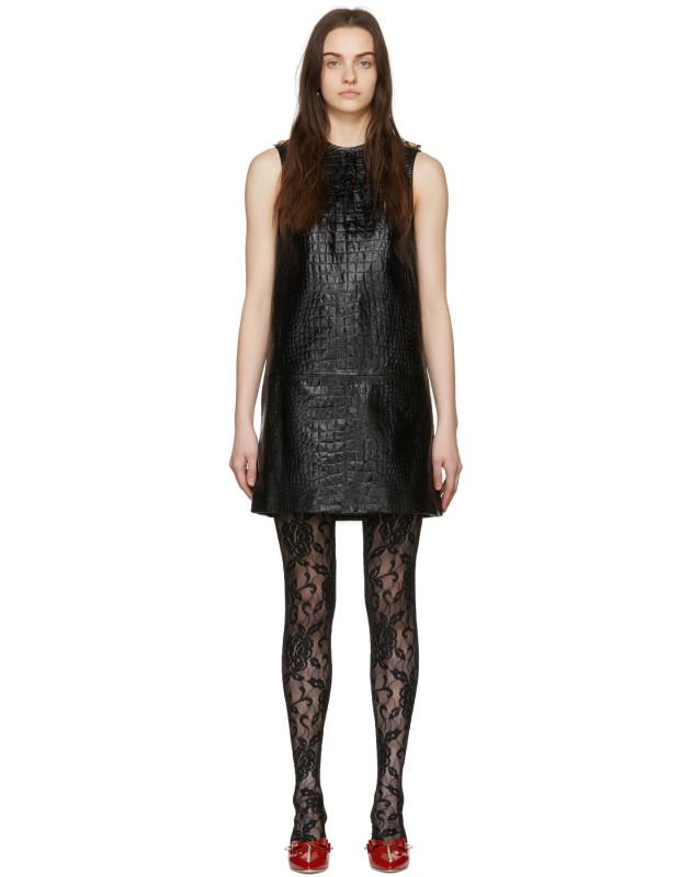 photo Black Croc Short Dress by Gucci - Image 1