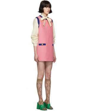 photo Pink and Blue Bicolor Mini Dress by Gucci - Image 2