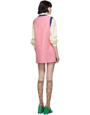 photo Pink and Blue Bicolor Mini Dress by Gucci - Image 3