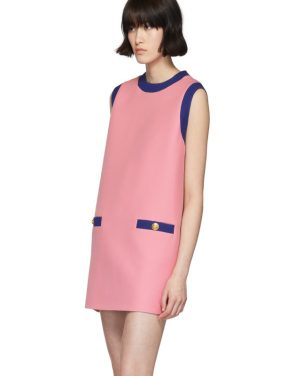 photo Pink and Blue Bicolor Mini Dress by Gucci - Image 4