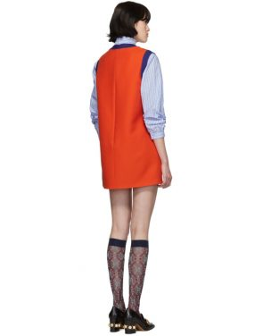 photo Red and Blue Bicolor Mini Dress by Gucci - Image 3