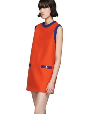 photo Red and Blue Bicolor Mini Dress by Gucci - Image 4