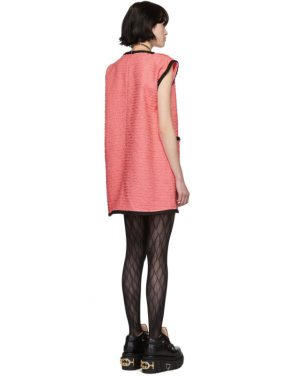 photo Pink Tweed GG Dress by Gucci - Image 3