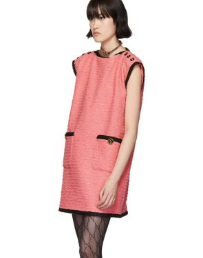 photo Pink Tweed GG Dress by Gucci - Image 4