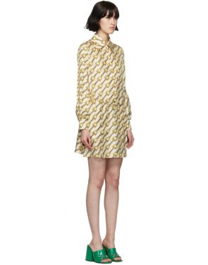 photo Off-White Silk Horsebit Dress by Gucci - Image 2