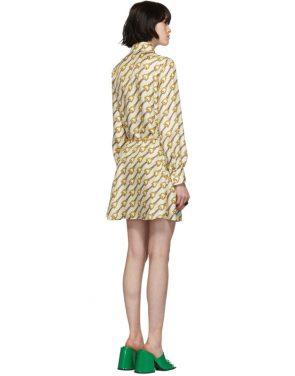 photo Off-White Silk Horsebit Dress by Gucci - Image 3