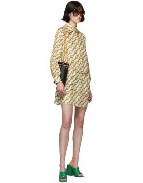 photo Off-White Silk Horsebit Dress by Gucci - Image 5