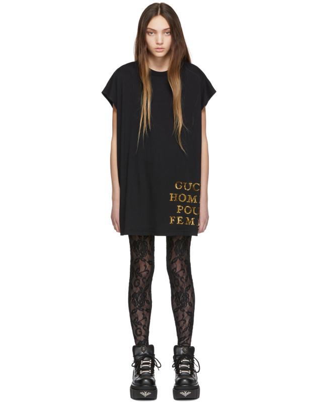 photo Black Sequin Homme Pour Femme T-Shirt by Gucci - Image 1