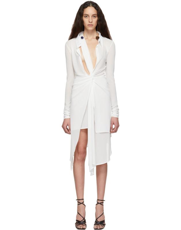 photo White La Robe Bellagio Dress by Jacquemus - Image 1