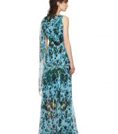 photo Blue and Green Fitzroy Rose Kassidy Dress by Erdem - Image 3