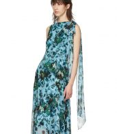 photo Blue and Green Fitzroy Rose Kassidy Dress by Erdem - Image 4