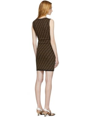 photo Black and Brown Knit Forever Dress by Fendi - Image 3