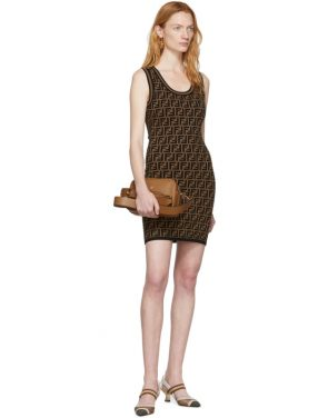 photo Black and Brown Knit Forever Dress by Fendi - Image 5