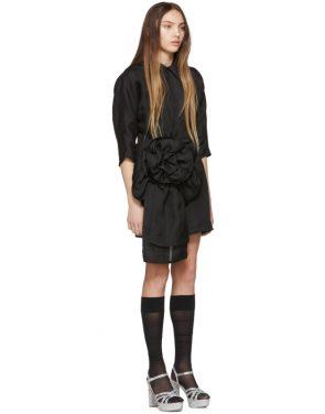 photo Black Pointy Collar Dress by Miu Miu - Image 2