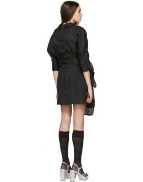 photo Black Pointy Collar Dress by Miu Miu - Image 3