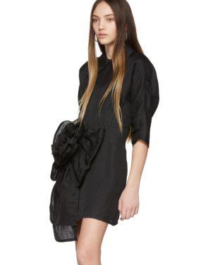 photo Black Pointy Collar Dress by Miu Miu - Image 4