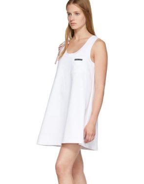 photo White Bow Detail Sleeveless Dress by Prada - Image 4