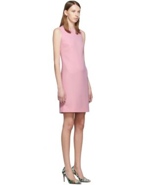 photo Pink Wool Crepe Dress by Dolce and Gabbana - Image 2