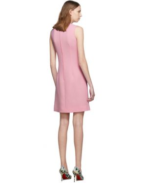 photo Pink Wool Crepe Dress by Dolce and Gabbana - Image 3