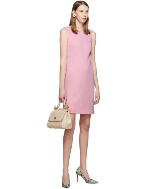 photo Pink Wool Crepe Dress by Dolce and Gabbana - Image 5