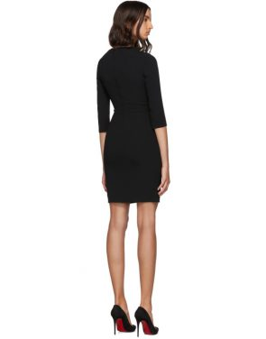 photo Black Three-Quarter Sleeve Mini Dress by Dolce and Gabbana - Image 3