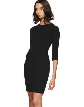 photo Black Three-Quarter Sleeve Mini Dress by Dolce and Gabbana - Image 4