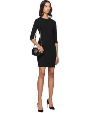 photo Black Three-Quarter Sleeve Mini Dress by Dolce and Gabbana - Image 5