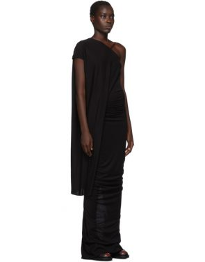 photo Black Single-Shoulder Gown by Rick Owens Lilies - Image 2