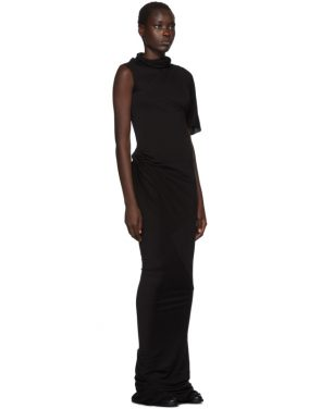photo Black Turtleneck Gown Dress by Rick Owens Lilies - Image 2