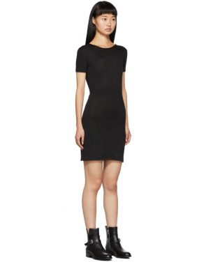 photo Black Ribbed Dress by rag and bone - Image 2