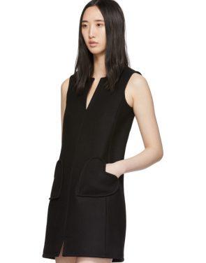 photo Black Sleeveless Shift Dress by RED Valentino - Image 4
