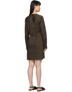 photo Brown Dominic Shirt Dress by Tibi - Image 3