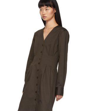 photo Brown Dominic Shirt Dress by Tibi - Image 4