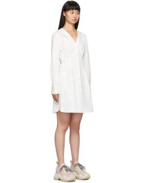 photo White Dominic Shirt Dress by Tibi - Image 2