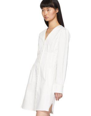 photo White Dominic Shirt Dress by Tibi - Image 4