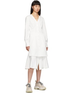 photo White Dominic Shirt Dress by Tibi - Image 5