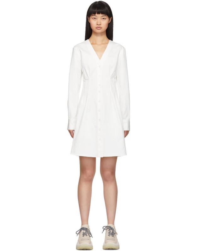 photo White Dominic Shirt Dress by Tibi - Image 1