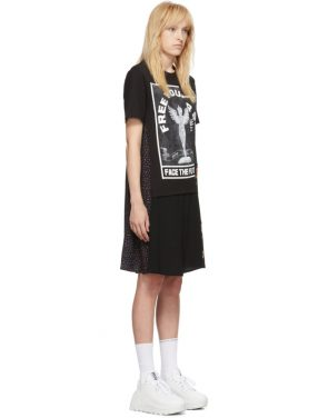photo Black Hybrid T-Shirt Dress by McQ Alexander McQueen - Image 2