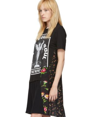 photo Black Hybrid T-Shirt Dress by McQ Alexander McQueen - Image 4