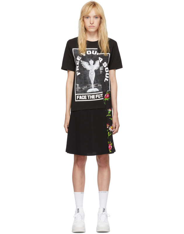 photo Black Hybrid T-Shirt Dress by McQ Alexander McQueen - Image 1