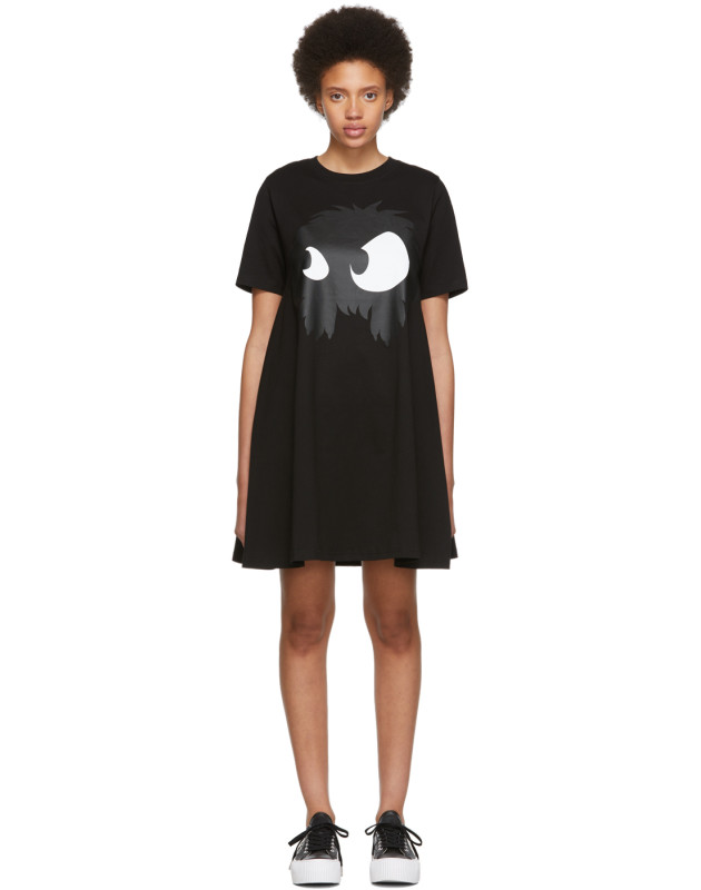 photo Black Mad Chester Babydoll Dress by McQ Alexander McQueen - Image 1